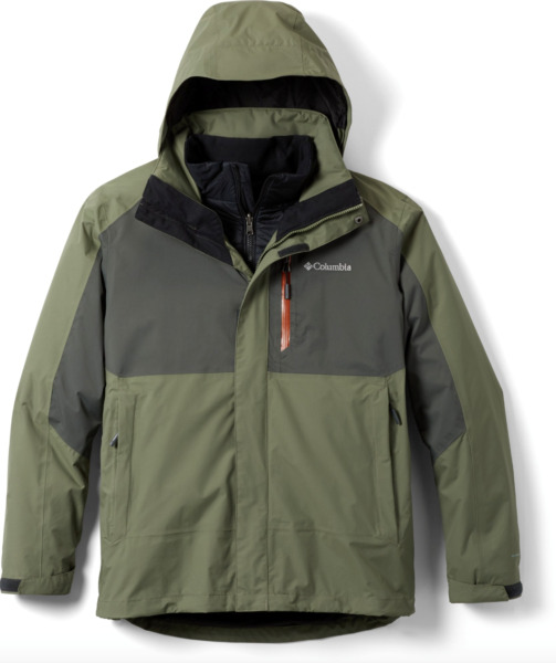 Columbia Men#x27;s Rural Mountain II Interchange Jacket sizes S 3 In 1 Omni Heat