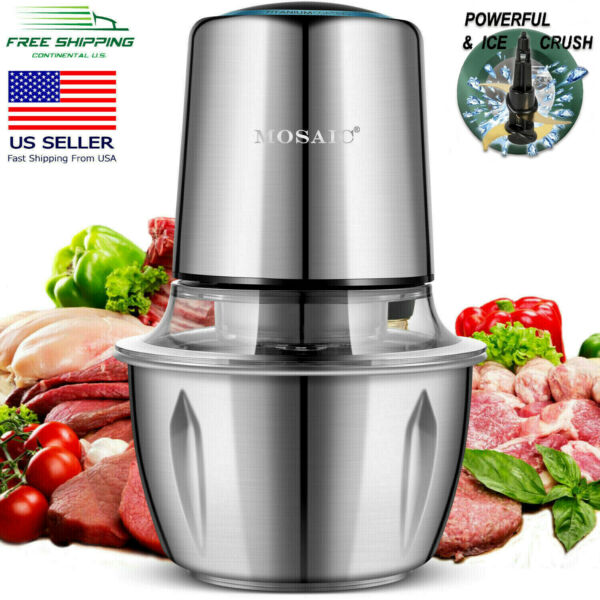 Electric Food Processor MOSAIC, Chopper, Meat Grinder, Stainless Steel Bowl,400W