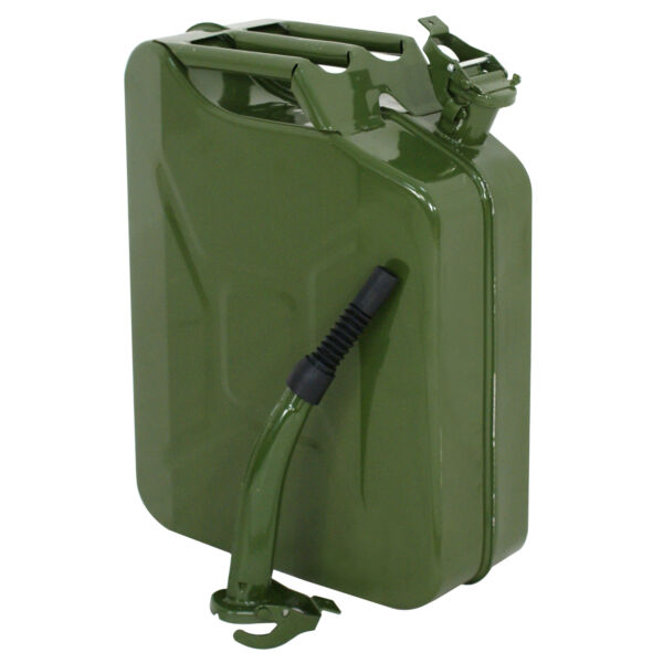 Jerry Can 5 Gallon 20L Gas Fuel Steel Tank Emergency Backup Army Military $30.99