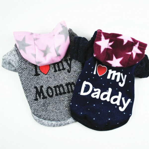 Soft Fleece Dog Jumpsuit Winter Dog Clothes Small Puppy Coat Pet Outfits Hoodie $4.99
