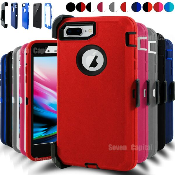 For iPhone 7 8 Plus Shockproof Hard Case Cover Belt Clip Fits Otterbox Defender