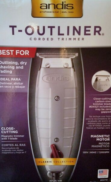 Andis Professional T-Outliner Trimmer #04710-For Outlining Dry Shaving