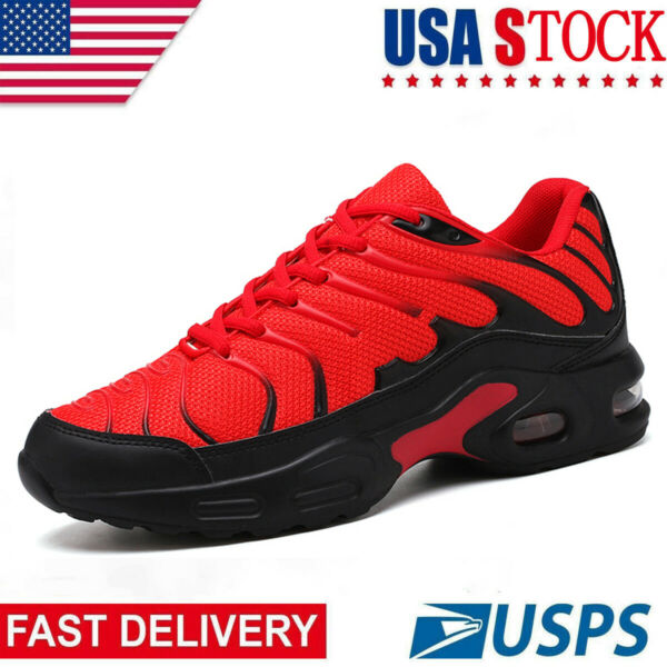 Men's Sneakers Air Cushion Breathable Running Tennis Athletic Walking Shoes US
