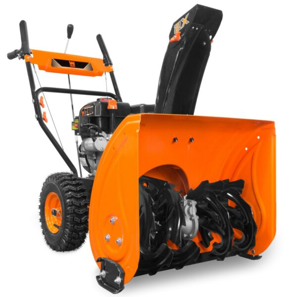 WEN SB24E 24quot; 212cc Two Stage Self Propelled Gas Snow Blower w Electric Start