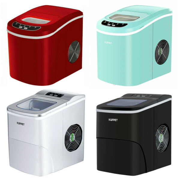 Electric Portable Ice Cube Maker Countertop Ice Cube  Compact Machine 26 LBS