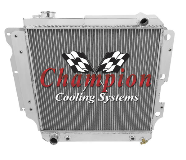 4 Row Cold Champion Radiator for 1997 98 99 00 01 02 03 2004 Jeep Wrangler