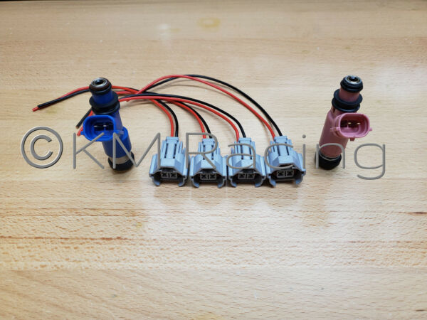 4x Fuel Injector Connector Quick Disconnect Pigtails for Subaru Top Feed $20.00