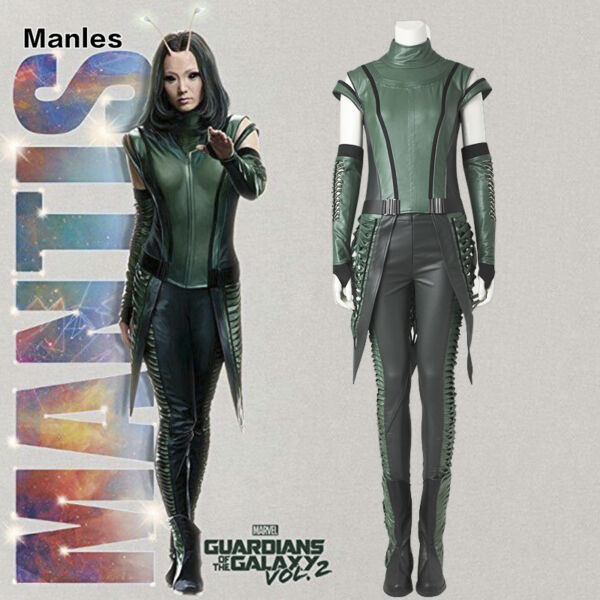 Guardians of the Galaxy Vol 2 Costume Mantis Girl Cosplay Women Outfit Halloween