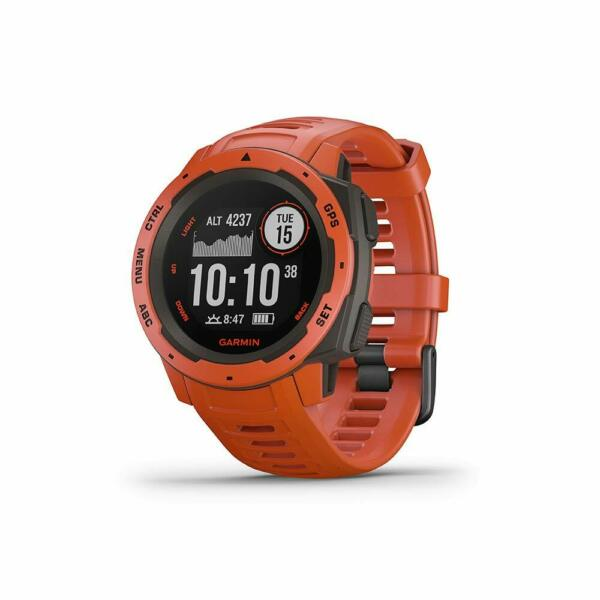 Garmin Instinct Red Rugged Outdoor GPS Smartwatch Watch 010-02064-02
