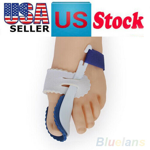 1Pair Big Toe Straightener Bunion Hallux Corrector Pain Relief Night Splint USA
