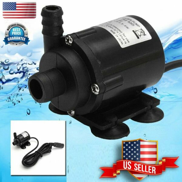 Black 12V DC Brushless Small Water Pump Submersible Motor Pump 280L H Female Plu $11.09