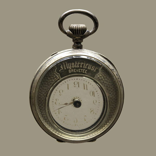 A Fine and Rare Swiss Mystery Solid Silver Pocket Watch For Spares or Repair