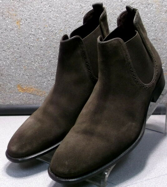 271802 PFBT50 Men's Boots Size 11 M Brown Suede Pull On Johnston