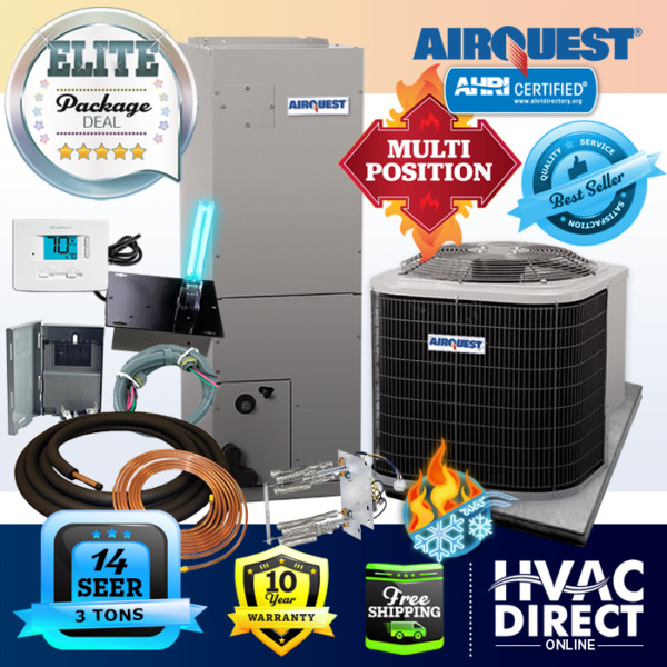 3 Ton 14 SEER AirQuest Heil by Carrier Heat Pump System with Install Kit $2515.00