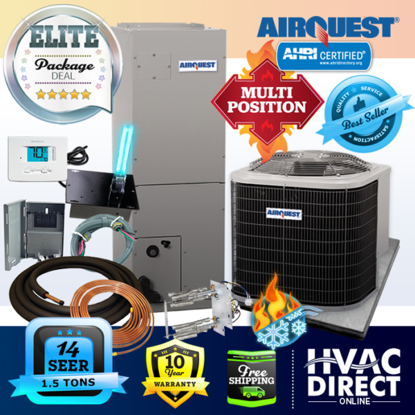 1.5 Ton 14 SEER AirQuest Heil by Carrier Heat Pump System with Install Kit $2086.00