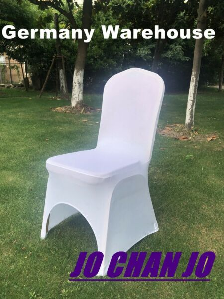 100pcs Chair Cover for Wedding Universal White Color US Warehouse Spandex lycra