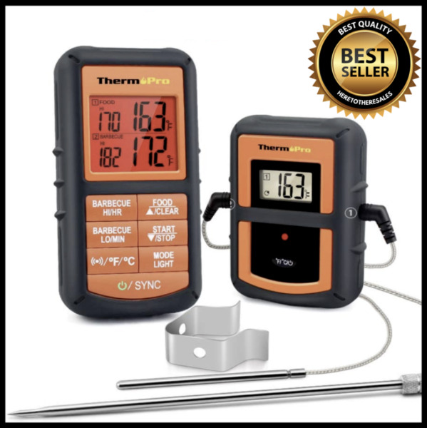 ThermoPro TP08S Wireless Digital Meat Thermometer W Dual Probe For Grilling BBQ