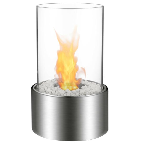 Regal Flame Eden Ventless Tabletop Portable Ethanol Fireplace Stainless Steel