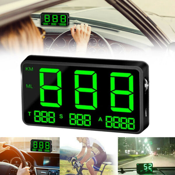 C80 Digital Car GPS Speedometer Speed Display KMh MPH For Car Bikes Motorcycles