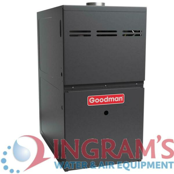 60k BTU 80% AFUE Multi Speed Goodman Gas Furnace Upflow Horizontal 14quot; Cabin $738.00