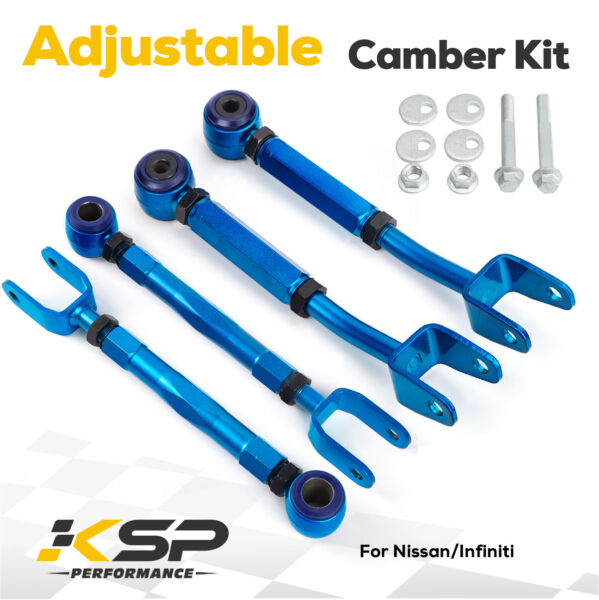 Adjustable Rear Camber Control Arm Toe Traction Kit for Nissan 350Z Infinit G35