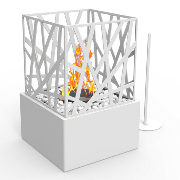 Regal Flame Bruno Ventless Tabletop Portable Bio Ethanol Fireplace in White