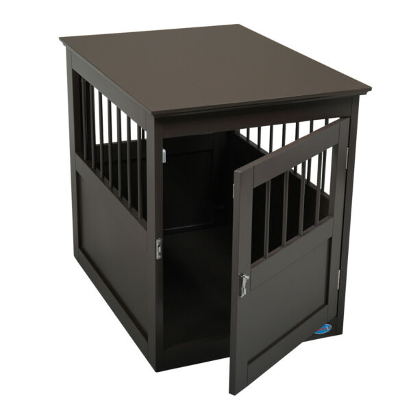 Dog Kennel Pet Crate Wooden Pet Cage End Table Furniture Indoor Cat House