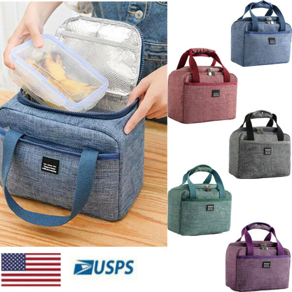 Insulated Lunch Bags Food Travel Picnic Box Tote Cooler for Men Women Waterproof
