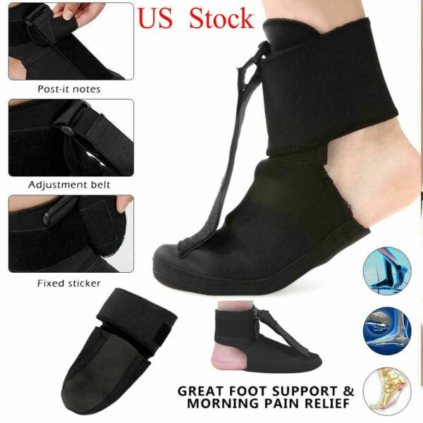 Adjustable Plantar Fasciitis Night Splint Foot Drop Brace For Heel Pain Relief