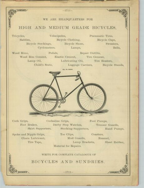 1894 PAPER AD High Grade Safety Bicycle Bike Wood Wooden Rims $25.96