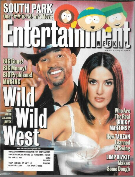 ENTERTAINMENT WEEKLY 493 JULY 9 1999 (FN-) WILD WILD WEST WILL SMITH SALMA HAYEK