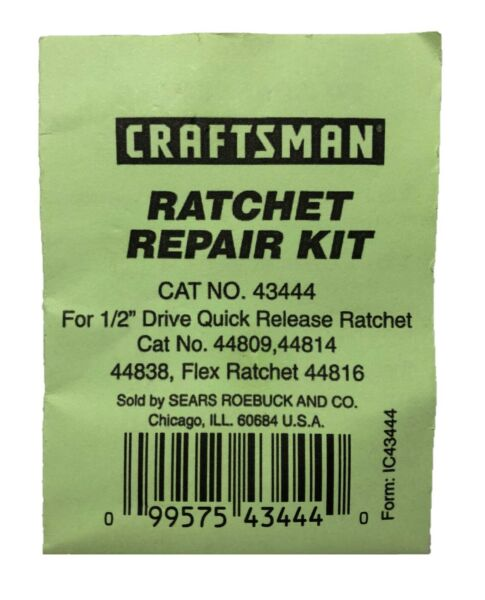 NEW Craftsman Ratchet Repair Kit #43444 1 2quot; Drive Quick Release