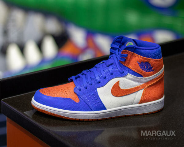 SIZE 13 Nike Air Jordan 1 Florida Gator PE DS PROMO SAMPLE UF Football Exclusive