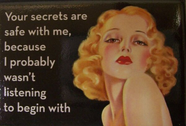 Your secrets are safe with me Refrigerator Magnet Funny Stuff NAU $6.99