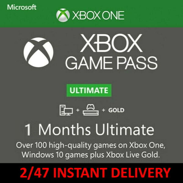 1 Month Game Pass Ultimate Xbox Live Gold 2 x 14 Day Trial Instant Delivery $6.75