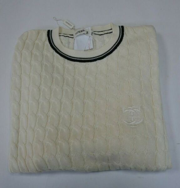 NWT vintage Iceberg sweater crewneck cotton white sz small $49.00