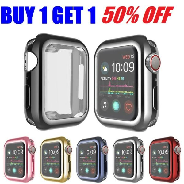 For Apple Watch Series 5 4 3 2 protector Cover Case 44mm 40mm 38mm 42mm USA $5.44