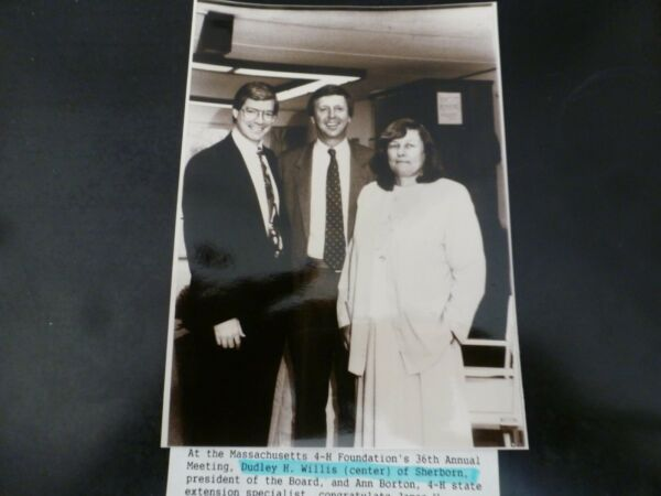 Vintage Glossy Press Photo Dudley Willis 4-H 36th Ann Meeting Sherborn MA 1980's $17.00