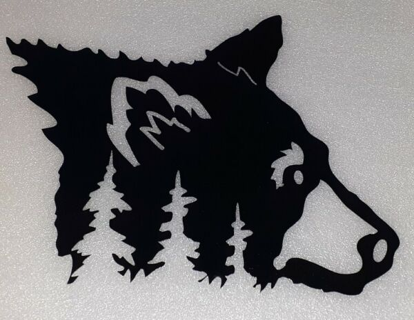 home decor Gift Bear Metal Art Black Bear Door Wall Hang New Modern Hunting