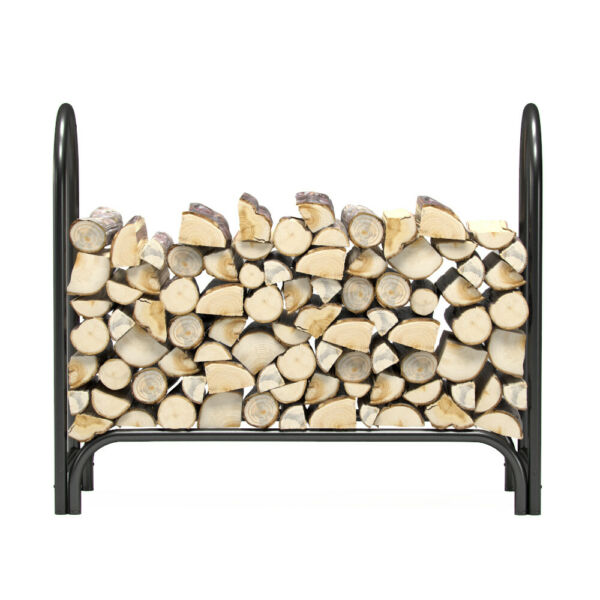 Regal Flame 4 Foot Indoor Outdoor Heavy Duty Firewood Shelter Fireplace Log Rack