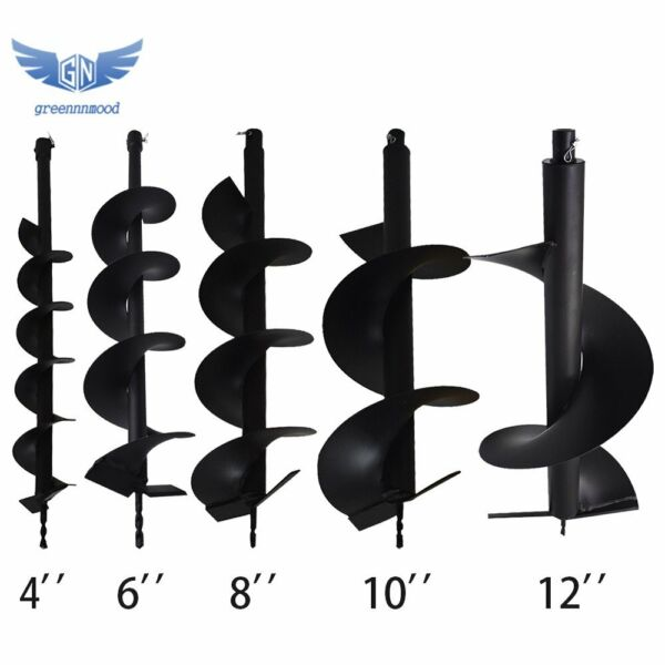 4quot; 6quot; 8quot; 10quot; 12quot; Earth Auger Drill Bits for Gas Powered Post Fence Hole Digger