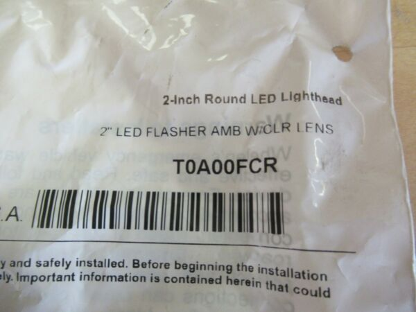 Whelen 2quot; Round LED Lighthead Amber Flasher T0A00FCR
