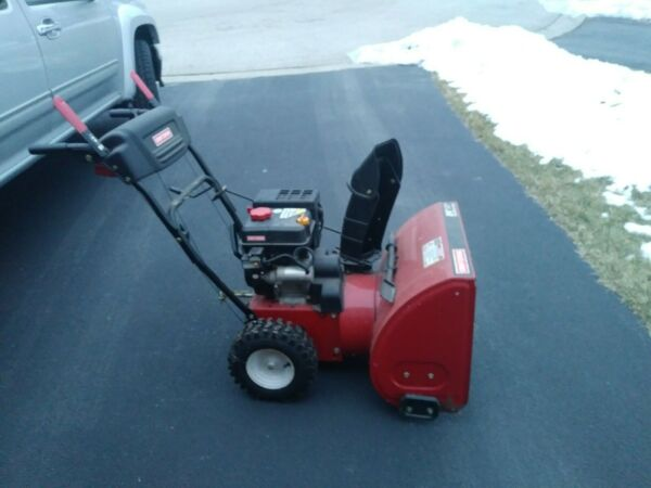 Craftsman snow blower red 24quot; electric start. Slightly used.