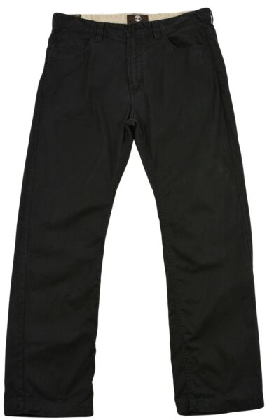 Timberland for Mens Straight Fit Jeans pants Size 33 Black zip fly Authentic $34.25
