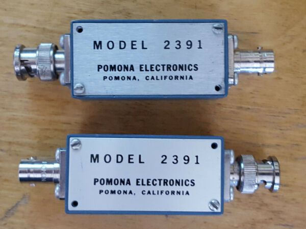 Two Pomona 2391 Aluminum Boxes With Cover BNC Male & Female Connectors