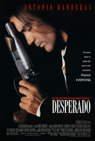 DESPERADO MOVIE POSTER 2 Sided ORIGINAL 27x40 ANTONIO BANDERAS SALMA HAYEK