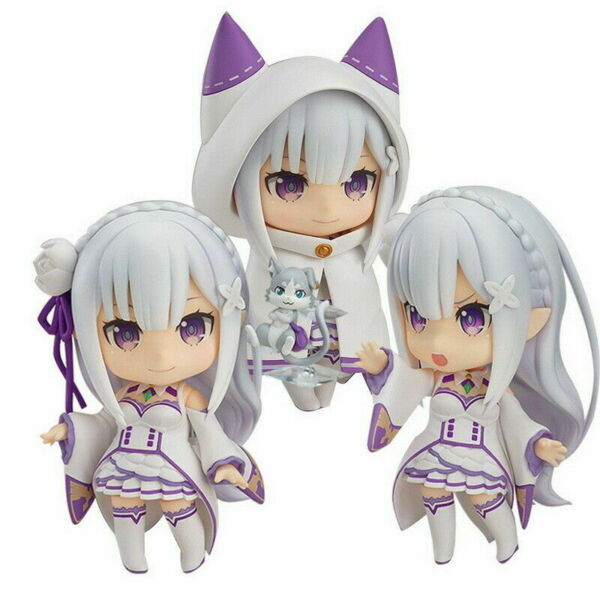Anime Nendoroid 751 Re:Life in a different world from zero Emilia Ver PVC Figure