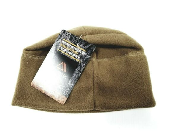 MILITARY ISSUE POLARTEC 100 COYOTE FLEECE CAP COLD WEATHER BEANIE WATCHMAN