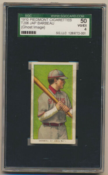 T206 Jap BarBeau Extremely Rare-Certified Labeled Ghost Image Piedmont SGC 50