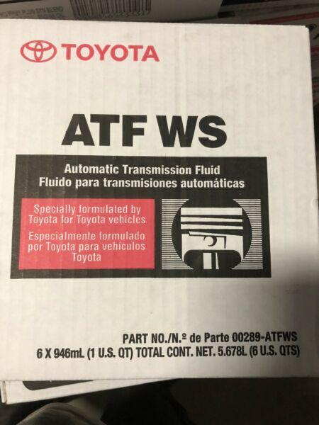 🔥🔥6 PACK LEXUS SCION TOYOTA GENUINE ATF WS TRANSMISSION FLUID 00289-ATFWS